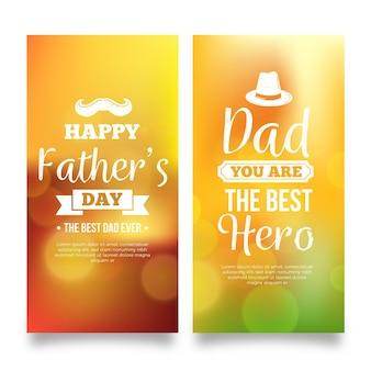Niewyraźne szablon dzień banerów ojców