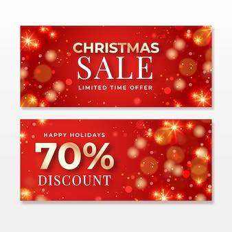Niewyraźne szablony banerów świątecznych sprzedaży