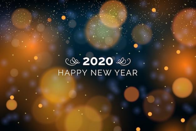Niewyraźne tło nowego roku 2020
