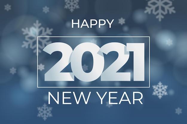 Niewyraźne tło nowego roku 2021