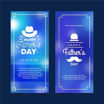 Niewyraźne transparenty dzień ojców
