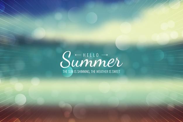 Niewyraźne witam lato napis