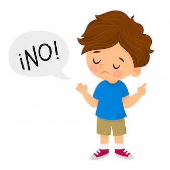 Niezadowolony chłopak mówi nie