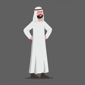 Niezadowolony wyraz gestu arabski mężczyzna