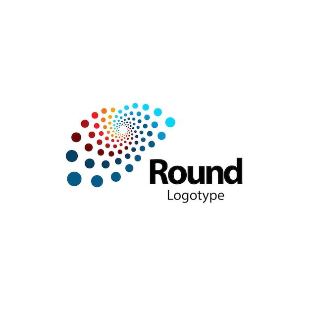 Niezwykłe okrągłe abstrakcyjne logo mózgu nowa technologia cyfrowa okrągły logotyp komputerowy znak innowacji
