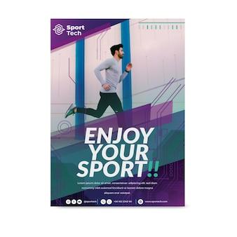 Nigdy nie rezygnuj z szablonu ulotki sportowej