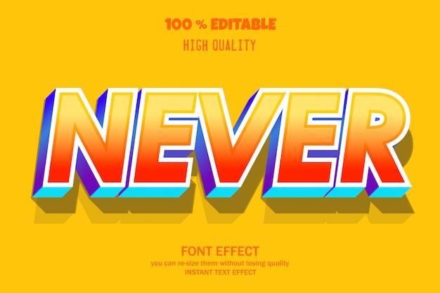 Nigdy nie tekst, edytowalny efekt czcionki