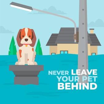 Nigdy nie zostawiaj swojego zwierzaka za ilustracją
