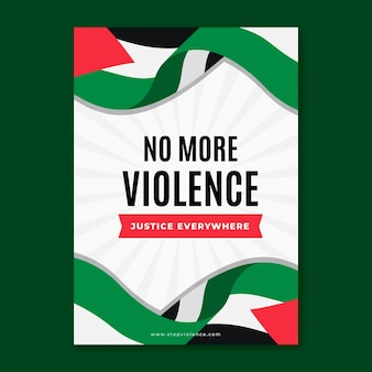 Nigdy więcej szablonu plakatu przemocy