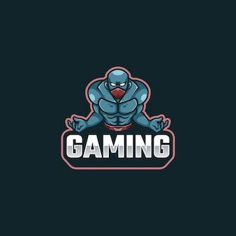 Ninja fighter logo maskotka