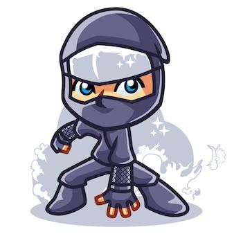Ninja landing maskcot design