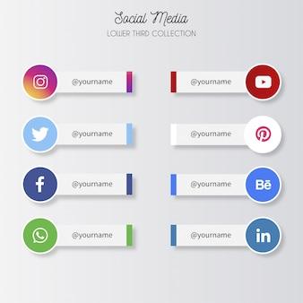 Niższe trzecie media społecznościowe