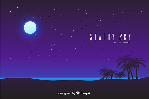 Noc gwiaździste niebo w tle