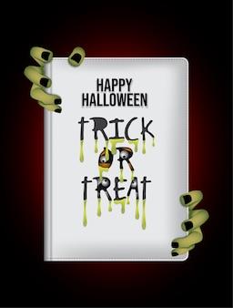 Noc happy halloween książki tło.