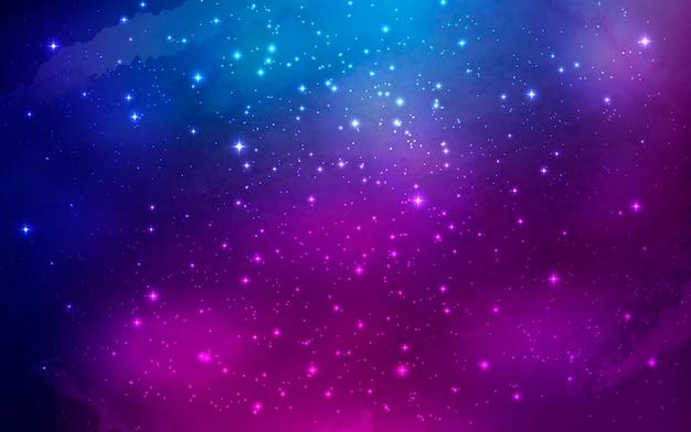 Noc świeci tło gwiaździste niebo