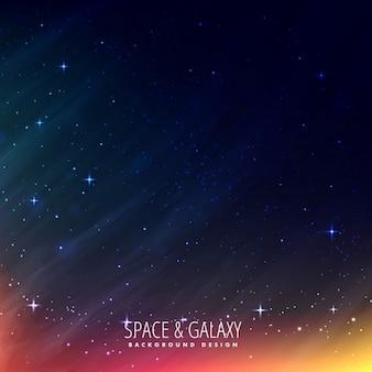 Noc wszechświat tle