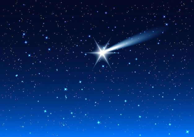Nocne niebo. krople gwiazd na nocnym niebie to życzenie