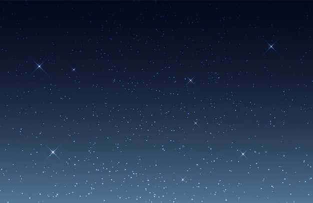 Nocne niebo z błyszczącymi gwiazdami