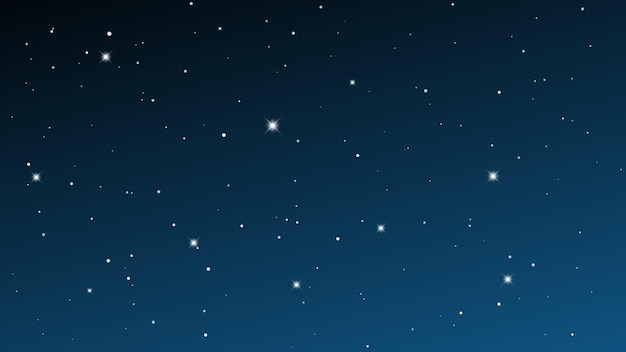 Nocne niebo z wieloma gwiazdami. streszczenie tło natura z gwiezdnego pyłu w głębokim wszechświecie. ilustracja wektorowa.