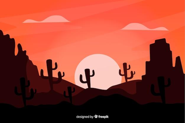 Nocny krajobraz pustyni