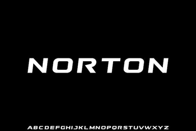 Norton, futurystyczny elegancki i złoty nowoczesny typ
