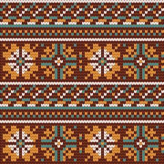 Norweski wzór na drutach