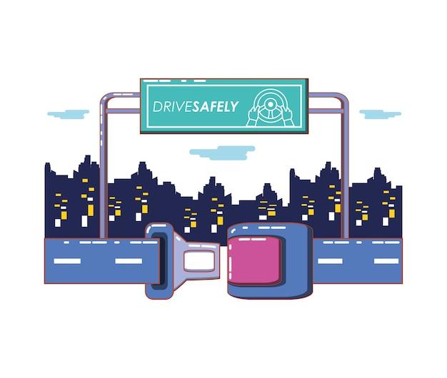 Nosić swój pas bezpieczeństwa wektor ilustracja projektu