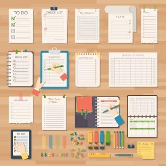 Notatki biznesowe z agendy