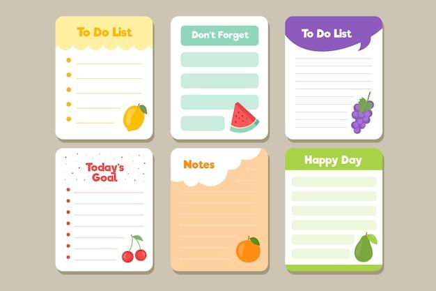 Notatki i opakowanie kartek do notatnika