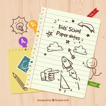 Notatki papieru dziecko