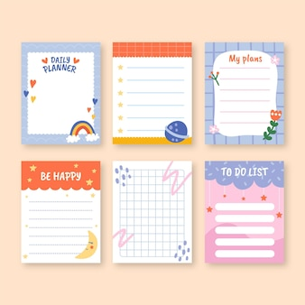 Notatnik i szablony notatek dla dzieci