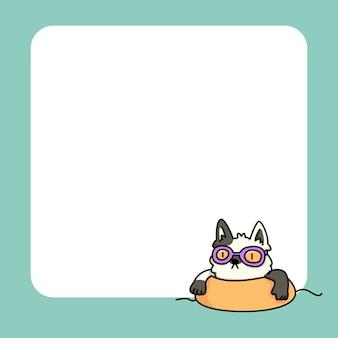 Notatnik kot lato plaża do zrobienia lista codziennych notatek