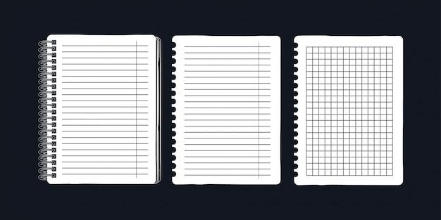 Notatnik na sprężynach i stronach