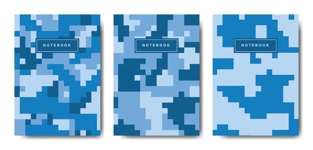 Notatnik w kamuflażu wojskowym i wojskowym