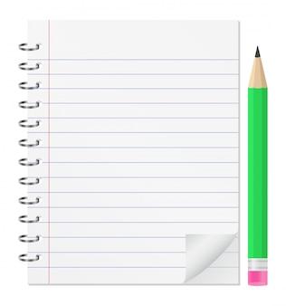 Notatnik z ołówkiem