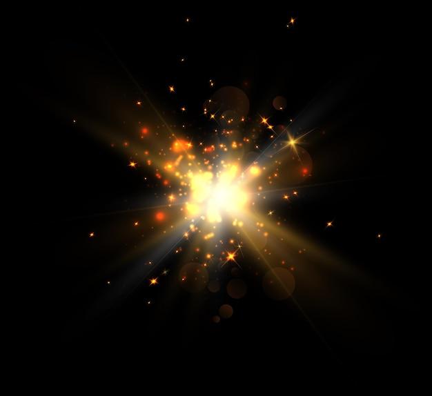 Nowa eksplozja gwiazdy, jasny efekt świetlny dla ilustracji.
