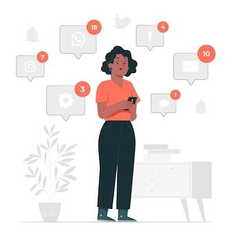 Nowa ilustracja koncepcji powiadomień
