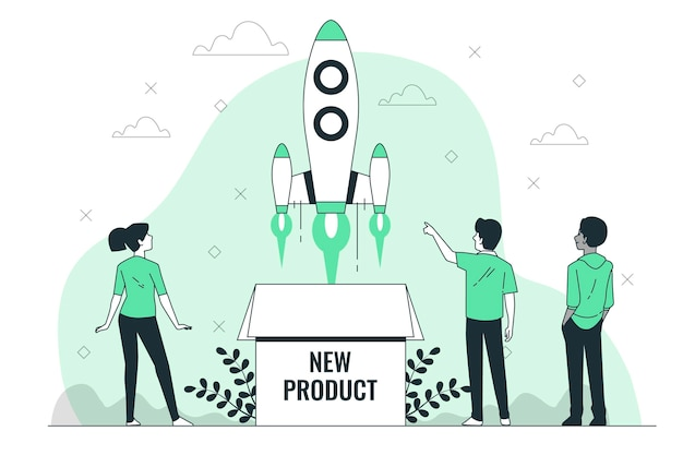 Nowa ilustracja koncepcji produktu
