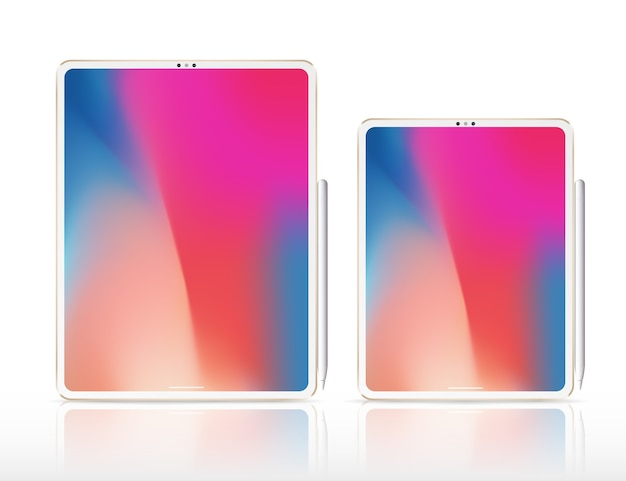 Nowa ilustracja tabletu pro x. inteligentny profesjonalny tablet z ołówkiem graficznym.