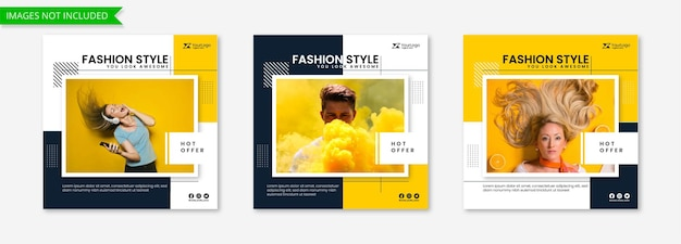 Nowa kolekcja moda baner w stylu instagram post feed