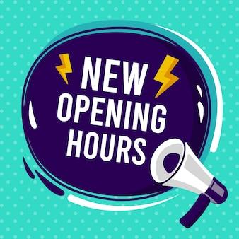 Nowa koncepcja znak godzin otwarcia