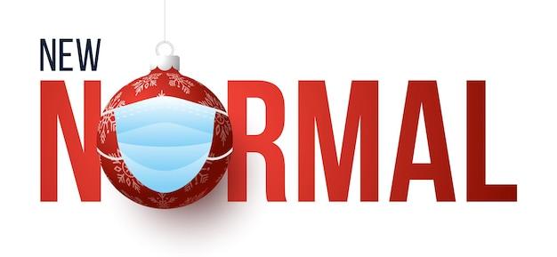 Nowa normalna karta transparent świątecznej koncepcji