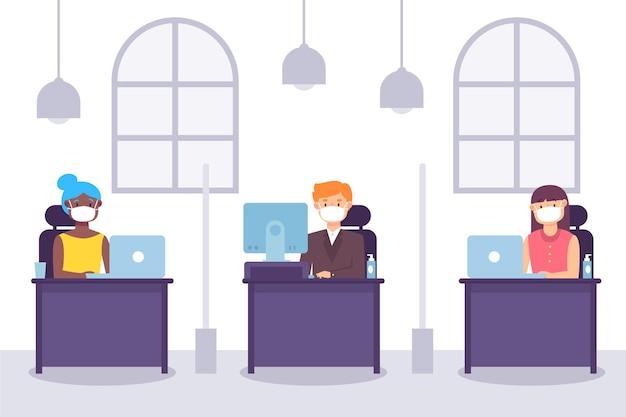 Nowa normalna koncepcja w biurze