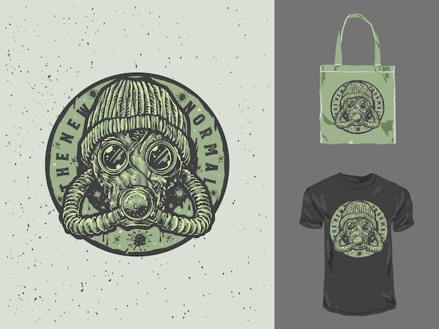 Nowa normalna odznaka vintage design ilustracja