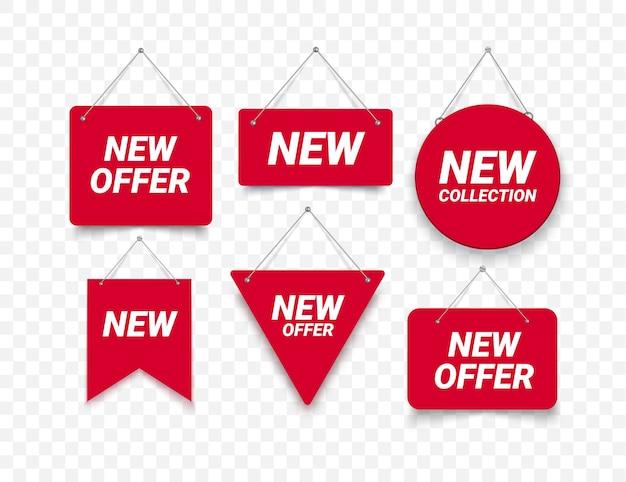 Nowa oferta etykiet ilustracji