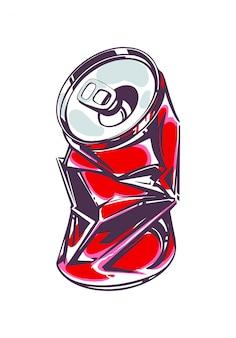 Nowa puszka napoju gazowanego, w stylu pop-art