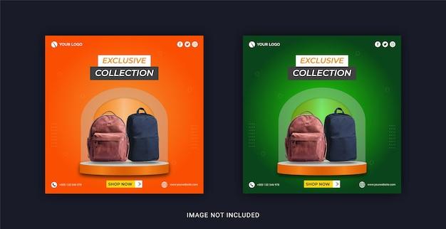 Nowa specjalna ekskluzywna kolekcja toreb szablon w mediach społecznościowych na instagram banner