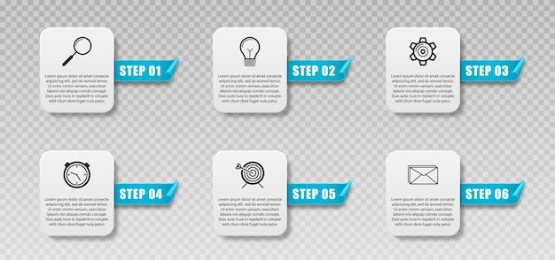 Nowe banery infografiki mogą być używane do schematu banerów układu przepływu pracy infografiki biznesowe