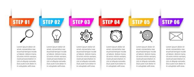 Nowe banery infografiki mogą być używane do schematu banerów układu przepływu pracy