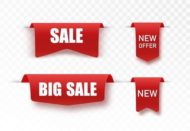 Nowe duże mega tagi sprzedaży. wstążki papierowe
